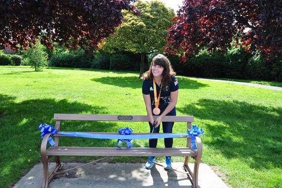 Hylands Park bench dedicated to Amy Marren opened by paralympian on 19th birthday
