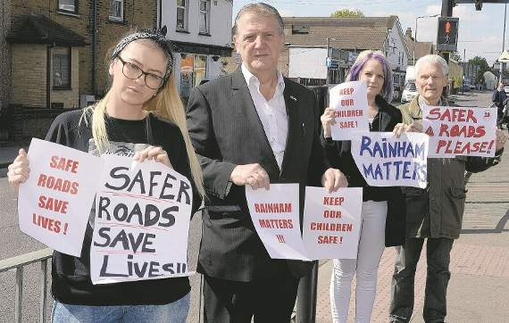Rainham campaigner spearheads crusade for better safety measures on Upminster Road South