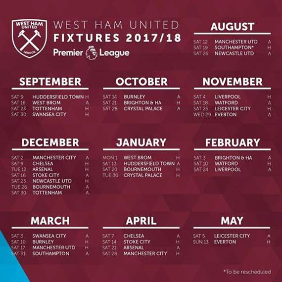 What to expect as fixtures of 2017-18 Premier League is out